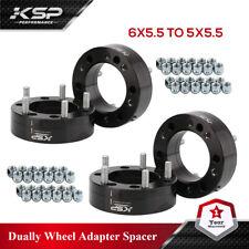 "4 Piezas Rueda Adaptadores de 6X5.5 a 5x5.5 de espesor 2"" CB 106.1mm Stud M14x1.5"
