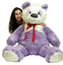 American Made Giant Stuffed Purple Panda Bear 60 Inch Soft 5 Foot Teddybear New