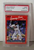1990 Donruss #489 Sammy Sosa RC Rookie Card PSA 9 Mint Chicago Cubs White Sox