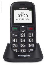 swisstone BBM 320c Handy Große beleuchtete sprechende Tasten SMS Schwarz NEU OVP