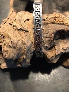 925 Sterling Silber Armreif für Herren mit Mäander Muster