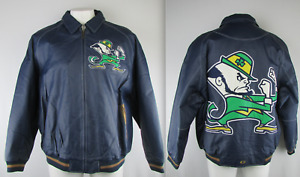 Notre Dame Fighting Irish Men's G-III Big & Tall Authentic Leather Jacket