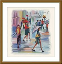 Counted Cross Stitch Kit NOVA SLOBODA HB3103 - I will paint the rain