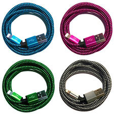 3x 50cm Premium NYLON USB Ladekabel für iPhone 7 6 8 X S Plus SE 5 iPad mini 2 4