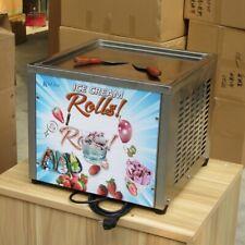 Countertop 45x45cm square pan fried ice cream machine rolled ice cream machine