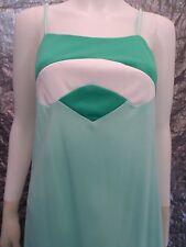 Women's Vintage 1960's Geometric Mint Green Mod Maxi Dress, Size M, Pre-Owned