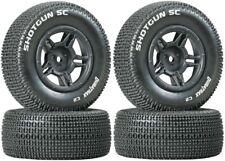 NEW Duratrax SC C2 Mounted Tires / Wheels (4) Slash 4X4 / Hpi Blitz F / R