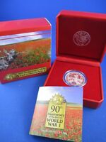 2008 $1 90th Anniversary End of World War I - 1oz Silver Proof Coin.