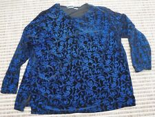 NICE Women's Fashion Bug Blouse / Top Size 30 / 32 W Navy Blue w Tiny Sequins