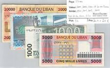 4 BILLETS LIBAN - 1000 / 1000 / 5 000 et 20 000 LIVRES - 1990 /2006 /2006 /2004