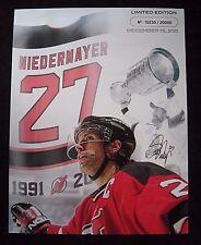 NJ DEVILS Limited Edition Collectible Picture  # 15235 / 2000 Scott Niedermayer