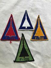 4 1960's intage US Air Force  Convair F-106  Squadron color  flight patches