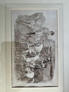 Two Original Richard Caton Woodville Pen And Ink Drawings