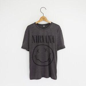 Men's 'Nirvana' Distressed Vintage-Style Rock T-Shirt