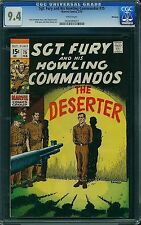 CGC (MARVEL) SGT.FURY, 75 NM 9.4 WHITE PAGES, NICK FURY /AVENGERS