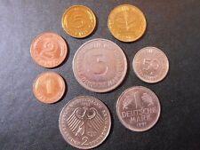 D Mark DM Satz zur Erinnerung 1 Pfennig bis 5 Mark