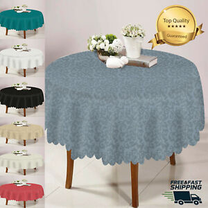 """70"""" Damask Jacquard Round Table Cover Floral Party Table Cloth"""