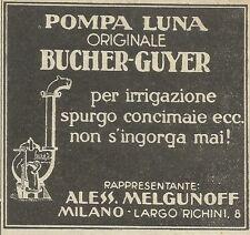 W6171 Pompa LUNA per irrigazione - Bucher-Guyer - Pubblicità 1934 - Advertising