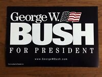 ORIGINAL George W. Bush for President Poster Double Sided  Election Collector
