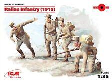 WW I infantería italiano (1915) con armas 1/35 ICM