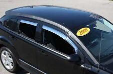 Chrome Trim Window Visors - Fits Dodge Caliber 2007-2012 4PCS.