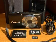 Canon PowerShot A2300 16.0MP Digital Camera - Black + Case + SD Card