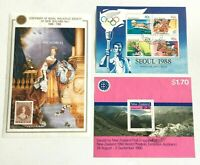 NZ395) New Zealand 1988/90 Philately, Olympics, Stamp Exhibit Minisheet CTO/Used
