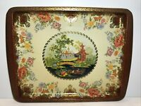 Dahar Decorated Ware Decorative Tin Tray Oriental Japanese Design England EUC