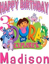 Dora Explorer Custom Birthday T Shirt Gift Personalizing Name and Age