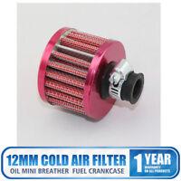 12mm Filtro de Entrada de Aire Respiradero para Ventilación Turbo Motor de Coche