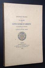 FERROUD 1924 A.FRANCE : LÉGENDE DES SAINTES OLIVERIE & LIBERETTE ill.G-A MOSSA