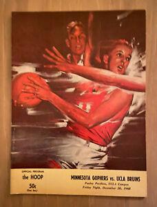 VINTAGE 1968 Lew ALCINDOR 25pts 20reb PROGRAM - HIGHEST SCORER IN UCLA HISTORY