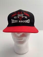 Vtg Deadstock NWOT Chicago Bulls Snapback Har 95 96 Best Record 72-10 New