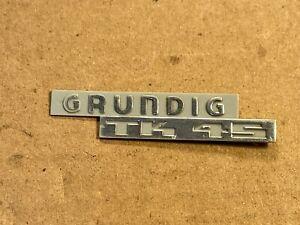 Vintage Grundig Logo Plastic Nameplate Badge fr Reel to Reel Tube Amplifier TK45