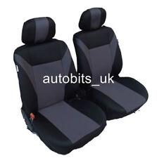 Gris-Negro Tela Fundas de los asientos delanteros para Peugeot 206 307 407 208 308 207 MPV 3008