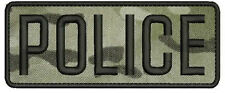 POLICE embroidery patch  2x5 hook MULTICAM