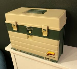 Vintage PLANO 787 Fishing Tackle Box Tall Large Compartment with 4 Drawers