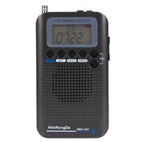 Portable Aircraft Band Radio Receiver VHF Transceiver Radio Recorder Black