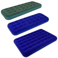 Luxury Air Bed Mattress Soft Flocked Inflatable Relaxing Airbed Pump Up Camping