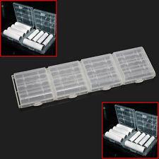 4 Plastica Case Custodia Contenitore Stoccaggio Batterie Ricaricabili AA AAA