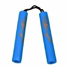 Foam Nunchaku 8 Inches Cord Blue Dragon Rubber Nunchuck Nunchuku Kids Childrens