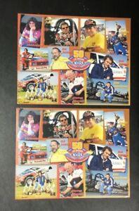 Lot (2) 2001 NHRA Top 10 Drivers 50th Sheet Postcard Rare Drag Racing Champions