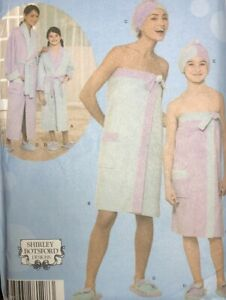 Simplicity 4493 Mother and Daughter Spa Accessories Size XS, S, M. Uncut FF