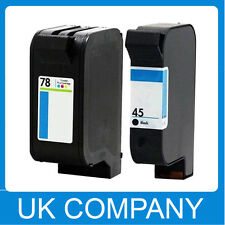 2 Unink Brand Generic Ink Cartridge Set for HP 45 & 78  Deskjet 930C 932c 935c