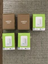 Lot of 5 open/working Wemo Dimmer Wifi Smart Light Switch