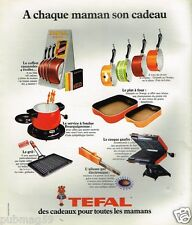 Publicité advertising 1975 Les Cadeaux poeles casseroles Téfal