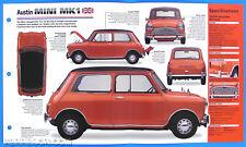 Austin Mini MK1 UK 1959-1967 Spec Sheet Brochure Poster IMP Hot Cars Group 1 #55