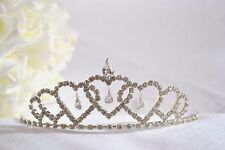 Tiara silver-tone jewel bride bridesmaid wedding prom diamante headband (2)