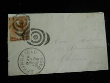 1886 Antique Mailing Cover / Envelope SPRINGFIELD MASS SPENCER AVE