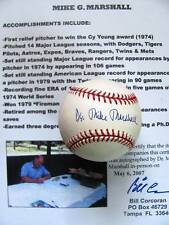 Mike Marshall (Cy Young) signed OML baseball- Inperson signing w/COA